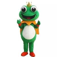 Frog Mascot Costume Halloween Cartoon Apparel Birthday Party Fancy Costume Cosplay Mascotte