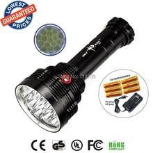 SKYRAY S88 16T6 Super bright 18000 Lumen 16xXML-T6 LEDFlashlight Strong Torch FlashLight 16T6 LED light+18650 battery+charger