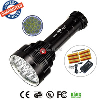 SKYRAY S88 16T6 Super bright 18000 Lumen 16xXML T6 LEDFlashlight Strong Torch FlashLight 16T6 LED light+18650 battery+charger