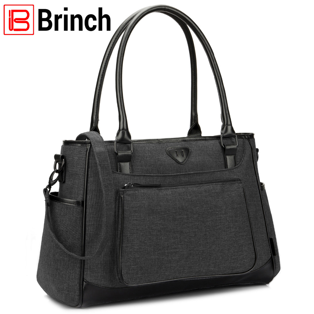 BRINCH Fashion Baby Diaper Bag With Insulated Pockets nylon waterproof baby nappy diaper bag stroller bag цена