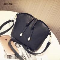 AMSSNL Hot Selling Dull Polish Shell Handbags Japan And Korean Style For Girls Lady Dating Shopping