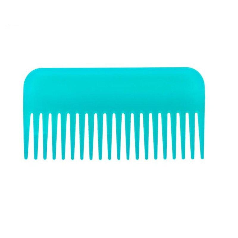 1 Stück Himmel Blau Messer Kamm Großen Zahn Lockige Große Kämme Tragbare Beauty Hair Styling Werkzeuge Friseursalon Einfach Zu Verwenden