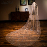 Modabelle Wholesale Luxurious Wedding Veil Cathedral Shiny BlingBling Custom Made Champagne Bridal Veil 3M Long 1.5M Width