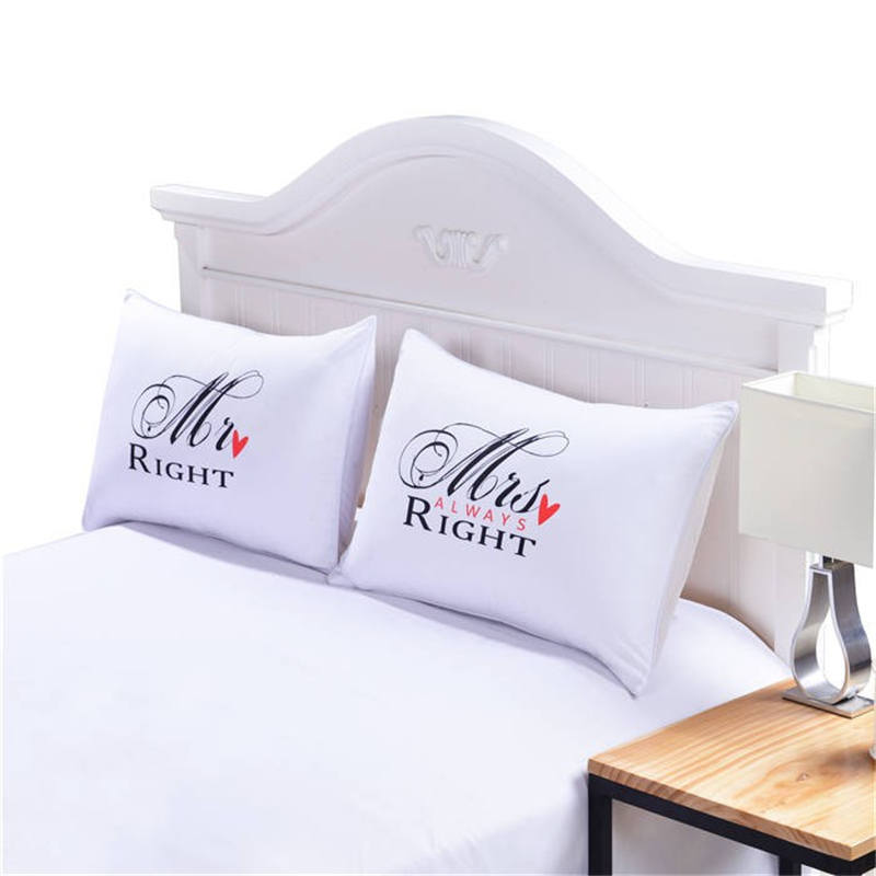 MR And MRS Pillowcases Couple Pillow Shams For Him Or Her Christmas Romantic Anniversary Wedding Valentine's Gift46