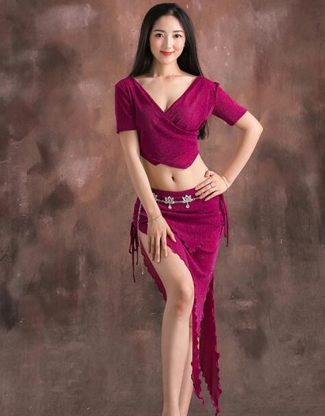 Belly Dancing Costumes 2019 New Summer Sexy Breathable Clothing  Beginner Belly Dance Skirt Suit