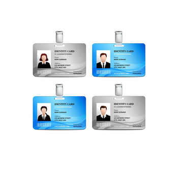 100pcs/design custom name card plastic 0.76mm thickness employee business card with glossy face