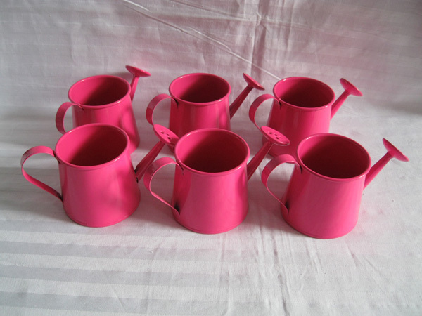 Cheap Mini Pink Smart Decorative Watering Cans Planter