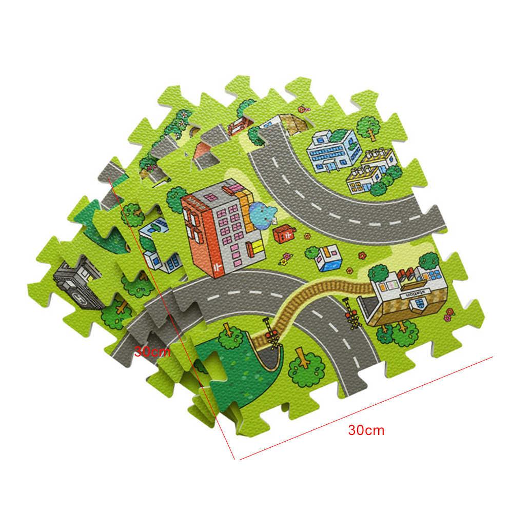 9 шт. 30*30 см детский игровой коврик мягкий пенистый коврик в форме пазла Eva детские раздельные детские коврики для детей ковры для игры игровой, для тренировок детский коврик