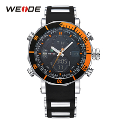 Weide venda quente esporte cronógrafo cronômetro repetidor data automática alarme analógico quartzo digital pulseira de silicone cinto relógios pulso