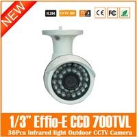 Home Security Bullet Video Camera 1 3 Sony Effio E 700TVL 3 6mm With 24Pcs IR
