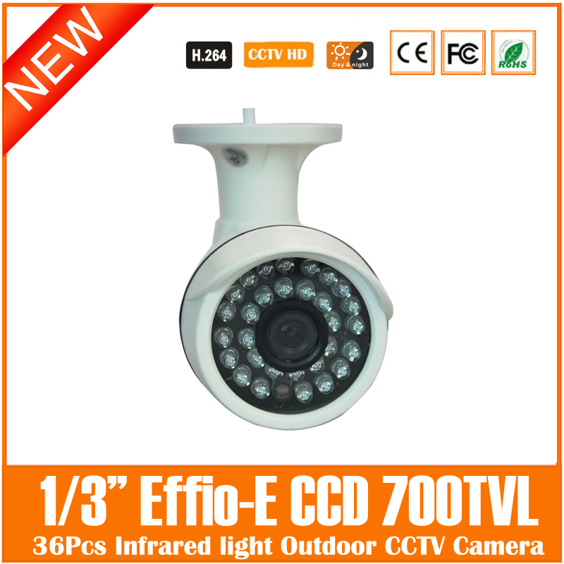 Ccd 700tvl White Mini Bullet Camera Outdoor Surveillance Security Cctv 36pcs Infrared Light Night Vision Freeshipping Hot Sale cmos 800tvl bullet camera infrared light night vision cctv outdoor surveillance security plastic mini webcam freeshipping