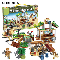 Guduola Military series Operational headquarters Building Blocks set brick toys Compatible Legoing weapon soldiers 833pcs/set