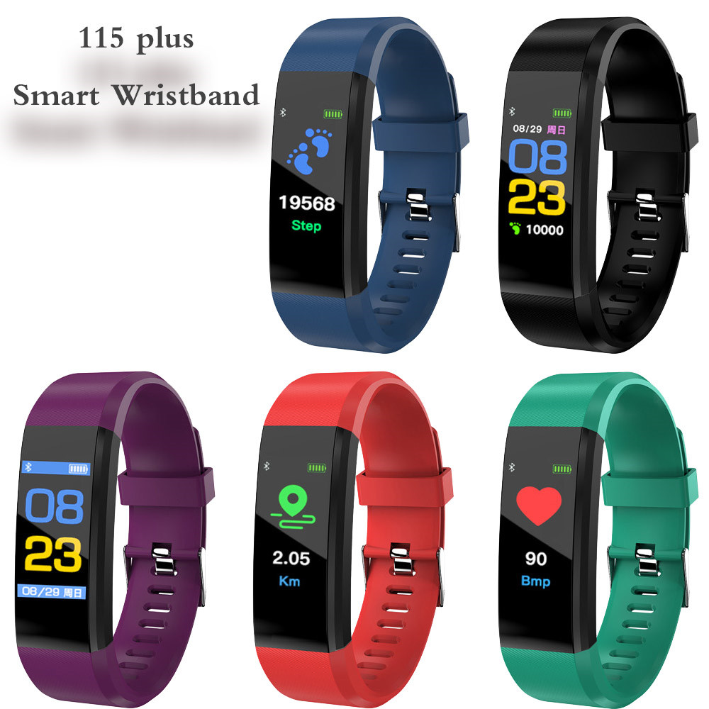 Image 5 - 115 Plus Smart Watch Bracelet Health Heart Rate Blood Pressure Fitness Tracker Wristband Monitor Sport band for ios android-in Smart Wristbands from Consumer Electronics