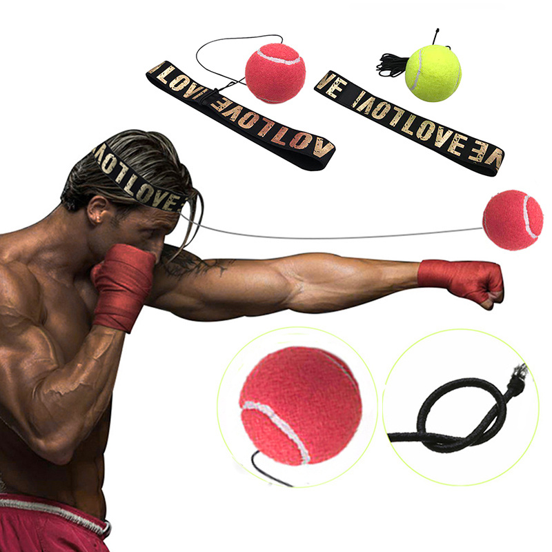 все цены на New Fight Boxeo Ball Boxing Equipment With Head Band For Reflex Speed Training Boxing Punch Muay Thai Exercise Yellow/Red