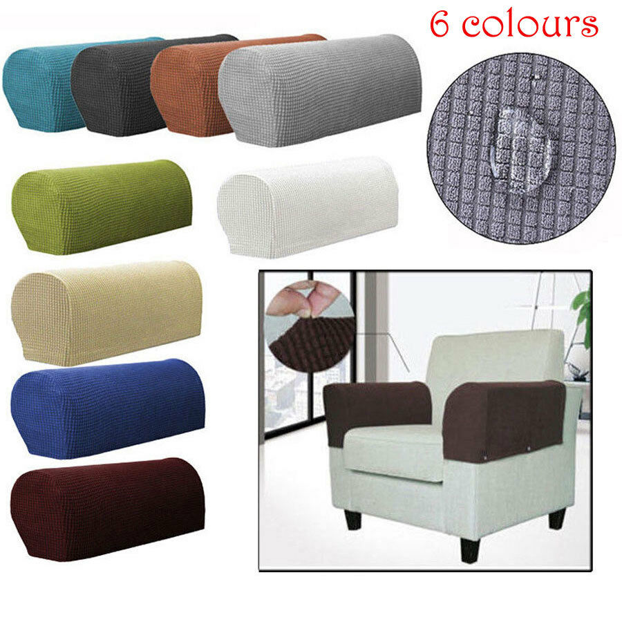 Stretch Armchair Covers Chair Arm Protector Cover Sofa Couch Recliner Armrest