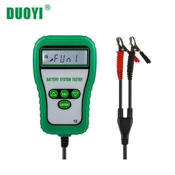 DUOYI DY216 רכב סוללה בודק אבחון עופרת חומצה מנתח CCA 100-1700 2.5in LCD תצוגת 9 18V אור משאית
