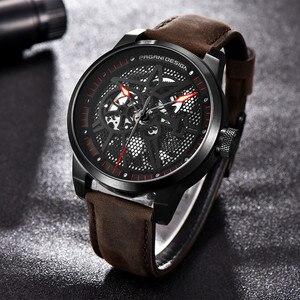 Image 5 - Pagani Skeleton Tourbillon Mechanical Watch Men Automatic Classic Leather Waterproof Wrist Watches Reloj Hombre Mens Gift 2019