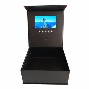 Image 4 - Жесткая обложка Цветы видео коробка 7 дюймов 2 Гб памяти Универсальная поздравительная карта HD просмотр буклет пюре для старшего игрока подарка