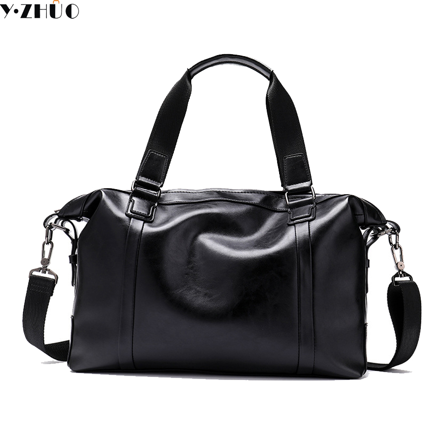 Y ZHUO genuine leather big travel bags large capacity handbags tote really cowhide leather duffle bag luxury brand shoulder bags цена