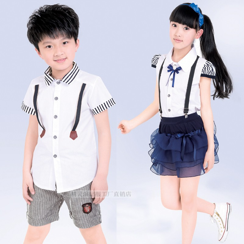 Girls and Boy School Uniform Kindergarten Pupils Wear Japanese School Uniform Children Chorus Clothing