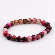 Wholesale 8mm Genuine Colorful Natural Tourmaline Bracelets For Women Lady Charm Stretch Round Crystal Bead Bracelet AB206