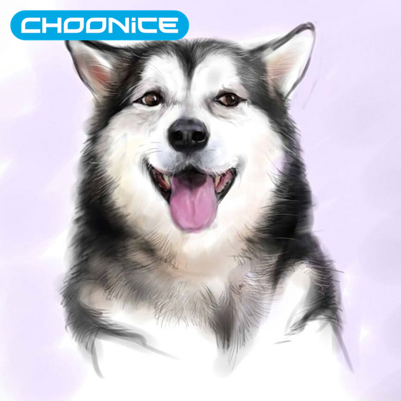 5D Diy Diamond Painting Dog 3D Diamond Embroidery The Puppy Smiles Mosaic Drawings Husky Paintings Pokemon Animal Picture
