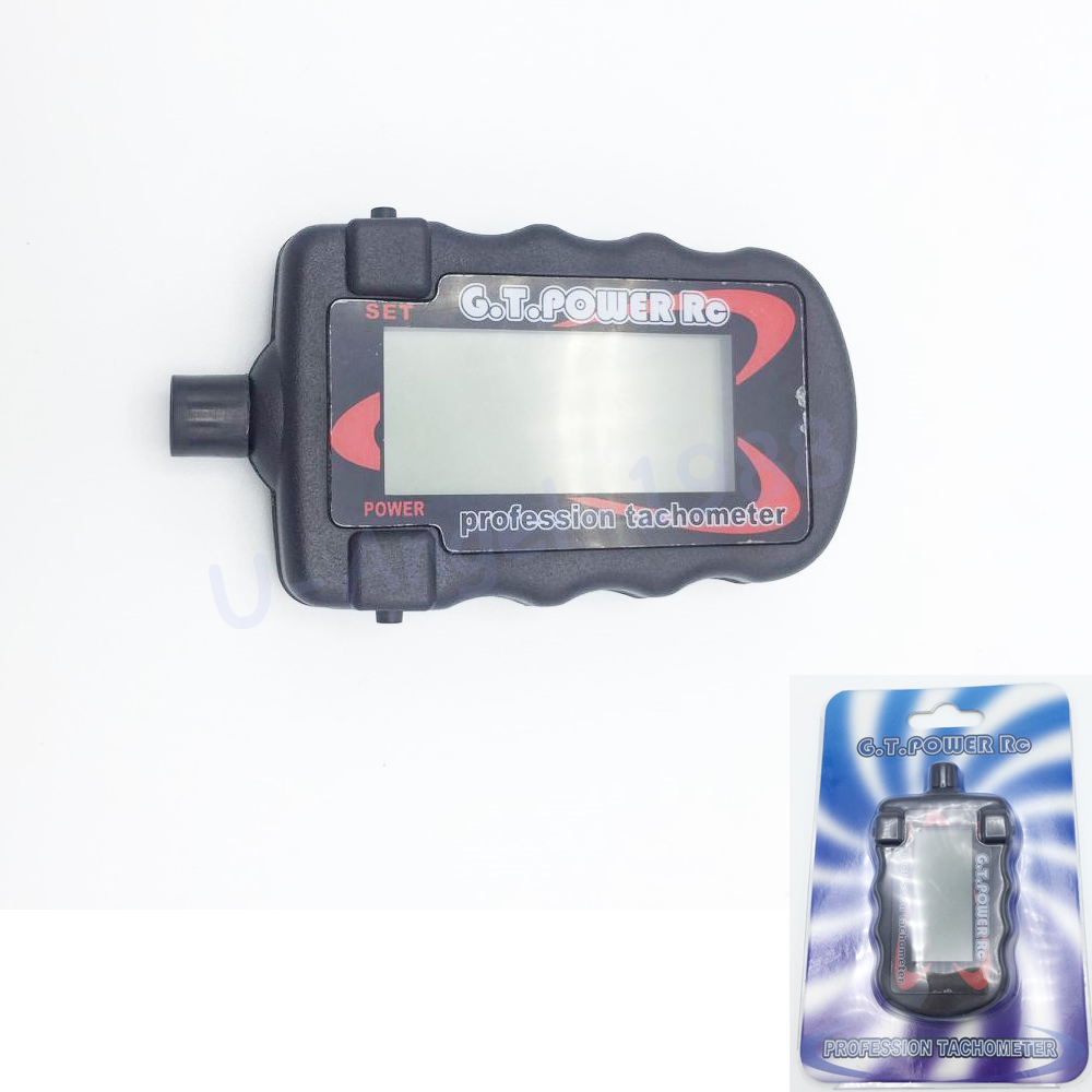 G.T. power model professional RC motor tachometer digital optical tachometer can store peak RPM data of 2-9 blades image