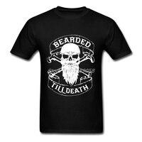 Bearded Men Tee Shirts Short Sleeve Printed Vikings T Shirts Hipster Clothing Brand T Shirts Man