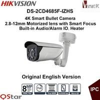 Hikvision Original English Version DS 2CD4685F IZHS 4K Smart Bullet IP Camera Heater Face Audio Detection
