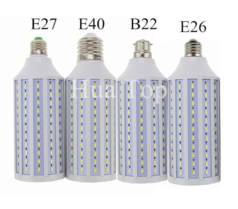 Купить с кэшбэком 7W 12W 15W 25W 30W 40W 50W 60W 80W 100W LED Bulb Lamp E27 E26 E40 5730 Corn Spot Light Lampada 110V 220V Cold Warm White Lights