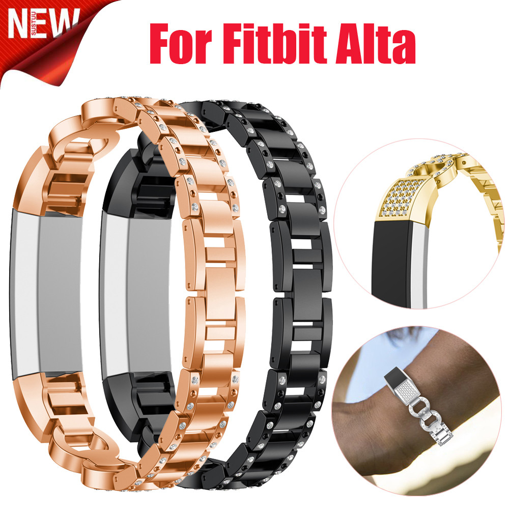 Luxury Alloy Crystal Watch Band Wrist strap For Fitbit Alta HR/Fitbit Alta Smartwatch we ...