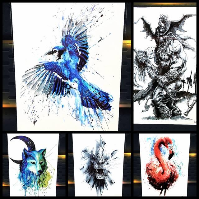 Online Shop Henna Temporary Tattoo Flying Eagle Designs Women Body