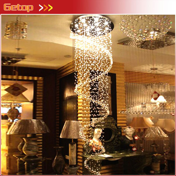 Best Price Duplex Stairs K9 Crystal Chandelier Single Spiral Crystal Lamp Villa Chandelier Lustres de cristal lustres Lighting best price 5pin cable for outdoor printer