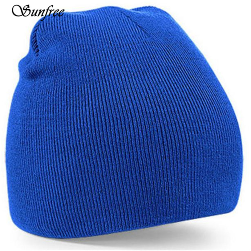 цены  Sunfree 2017 New Hot Sale Knitted Beanie Hat Mens Ladies Unisex Wooly Winter Warm Skull Cap Brand New High Quality Dec 20