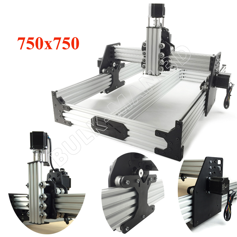 OX CNC Router Kit 750x750mm 4Axis Wood Metal Engraver Milling Machine Desktop Belt Driven with 175