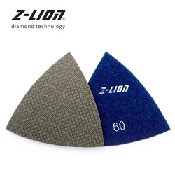 Z-LEAP 2 sztuk trójkątne podkładki szlifierskie wielofunkcyjne narzędzie oscylacyjne talerze polerskie do renowacji elektronarzędzia papier ścierny Fein akcesoria