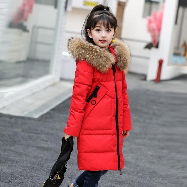 003b0a6af89b 2018 Snow Wear Teen Baby Girl Winter White Duck Down Jacket Coat ...
