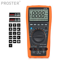 Proster Auto Range 3 5/6 Digital Multimeter With Carry Bag 20A Resistance Capacitance Temperature Meter Voltmeter Ammeter