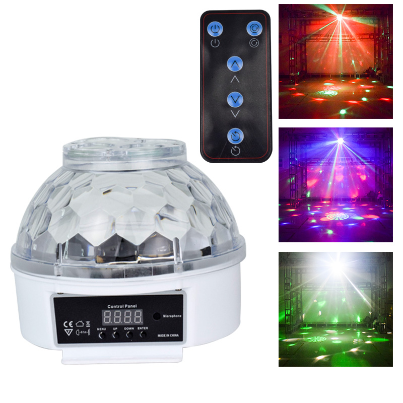 YSH Patterns Magic Ball Light LED Sound Activated Stage Lights Remote Control Party Decoration Projector For KTV Wedding Holiday