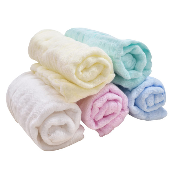5pcs/lot Pure Cotton Baby Bath face Towels Solid New Born Baby Towels Ultra Soft Strong Water Absorption towels
