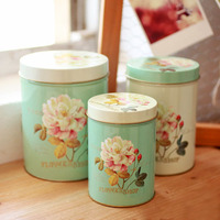Zakka Top Quality 3pcs Lot Tin Box Multi Use Case Candy Or Tea Can Set Home
