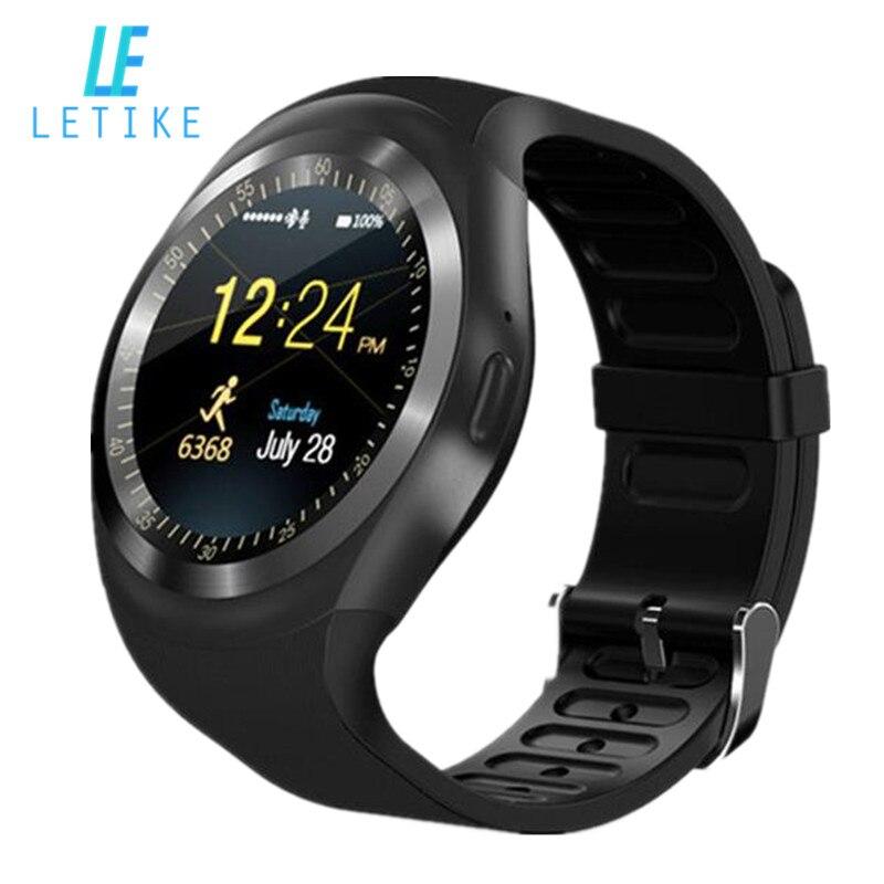 Letike Smart Watchs Runde Unterstützung Nano SIM & TF Karte Mit Whatsapp Und Facebook Männer Frauen Business Smartwatch Für Android telefon