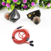 New UE Custom Earphone HIFI Monitor Earphone Bass Headset Earplug With MMCX Interface Cable For Shure