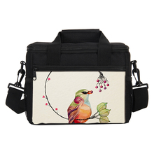 VEEVANV Pretty Birds Lunch Bags Women 7L Portable Insulated Cooler Bag Thermal Lunch Box Girls Storage Container Food Picnic Bag