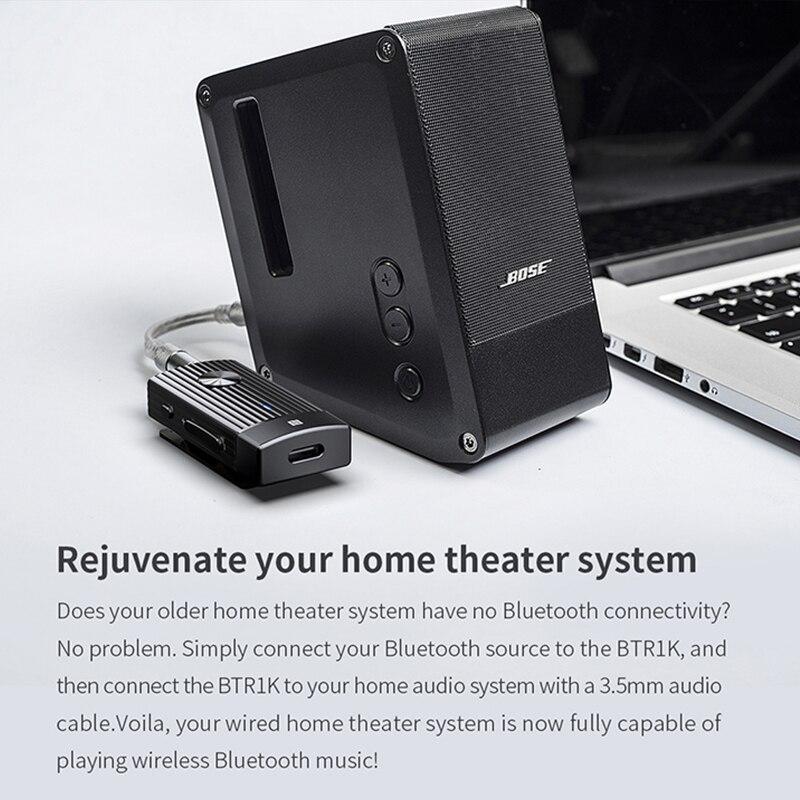 FIIO BTR1K sans fil Bluetooth 5.0 amplificateur de casque Portable réduction du bruit USB DAC récepteur Audio avec support MIC NFC - 5