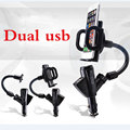 Phone holder car cigarette lighter charger for iphone 4 5 6 6s 6plus for Samsung Galaxy S2 S3 S4 S5 S6 S7 S7 Edge Smartphones