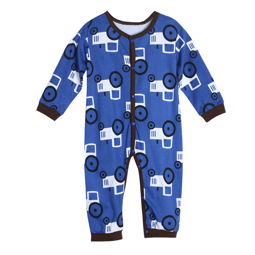 2017 New Baby Rompers Jumpsuit Winter Infant Toddler Kids Cute Car Print Long Sleeve Rompers Jumpsuit Cotton Baby Clothing 0-18M infant cute cartoon dinosaur baby boy girl rompers soft cotton car printed long sleeve toddler jumpsuit kids clothes