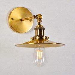 10 sztuk drut z brązu rysunek latający spodek nowoczesne zwięzłe nocna lada barowa korytarz lampa na ścianę do przejścia luminaria oświetlenie do sypialni