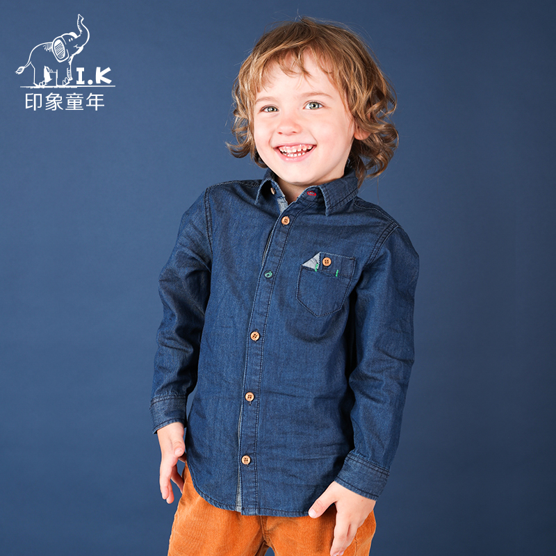 I.K Toddler boys Jeans Shirt Baby Children Denim dress Infant kid casual school blouse Kinder Top CC26010 Fall Spring New 2018 casual solid denim mini shirt dress