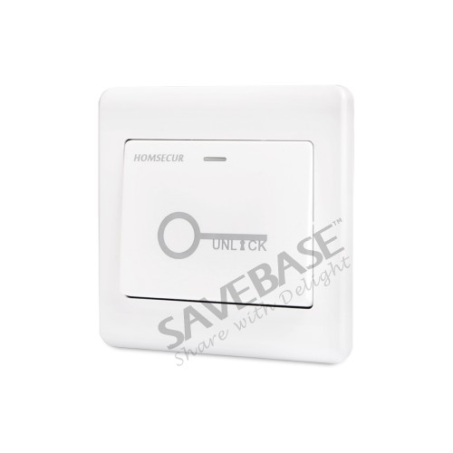 HOMSECUR Access Control System With Waterproof RFID Access Controller + HOMSECUR Exit Button + Wired Doorbell